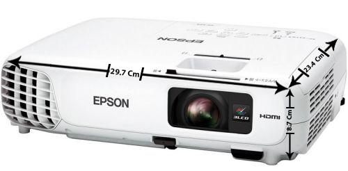 ابعاد پروژکتور epson-EB-X20
