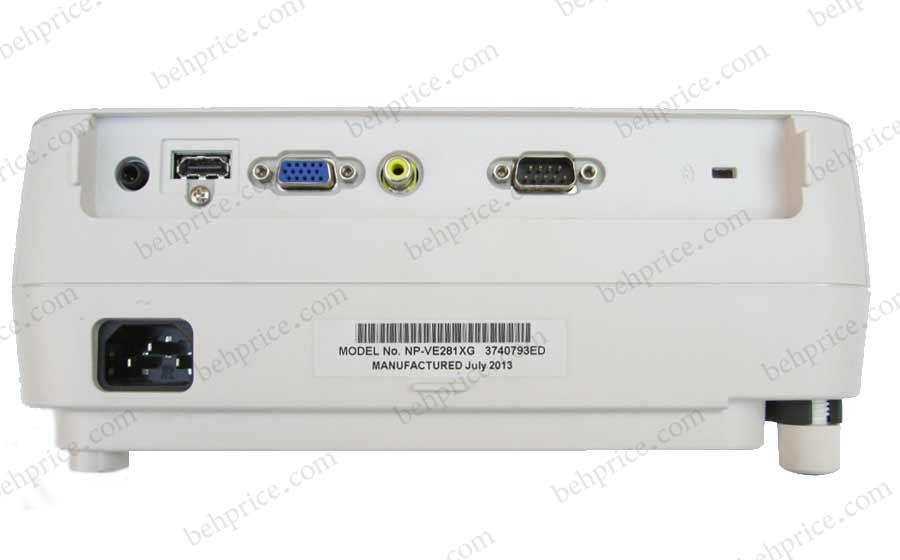 تصویر نمای پشت پروژکتور NEC-np-VE281X
