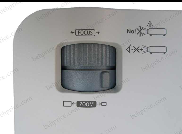 تصویر دکمه های بزرگنمایی و فوکوس پروژکتور NP-VE281G