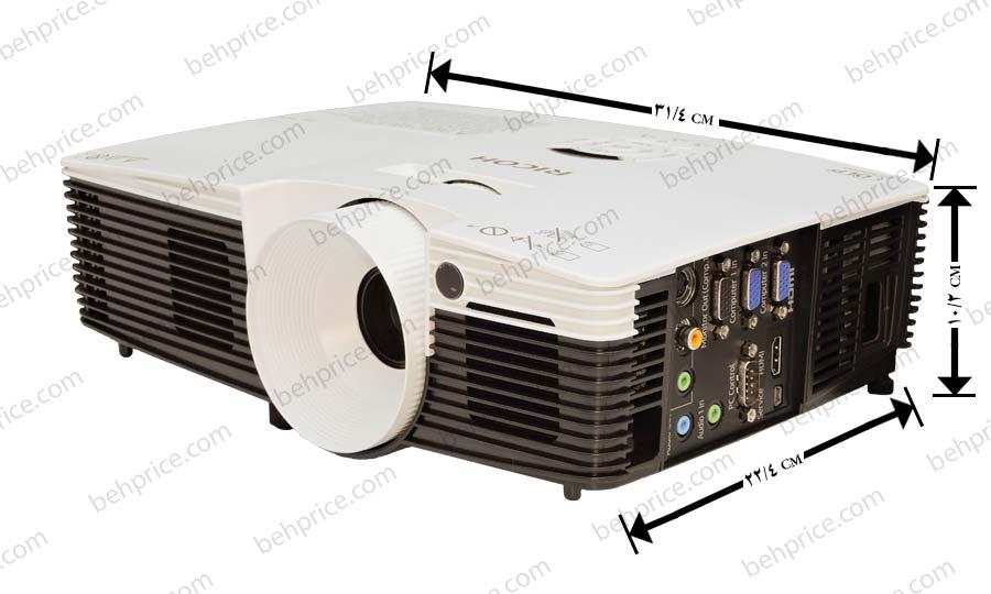 ابعاد پروژکتور Ricoh PJ-X2240